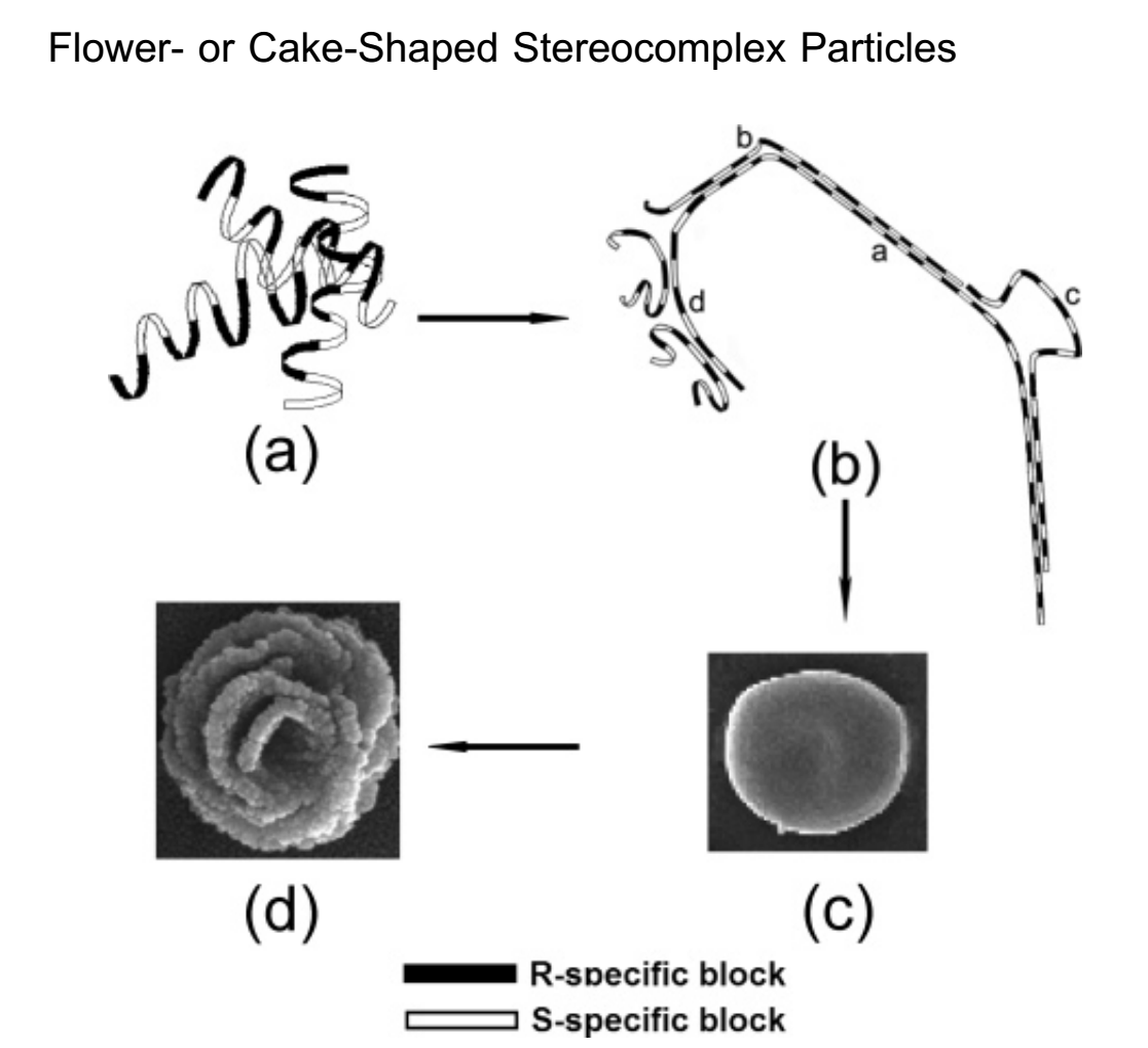 Formation of Flower- or Cake-Shaped Stereocomplex Particles from the Stereo Multiblock Copoly(rac-lactide)s